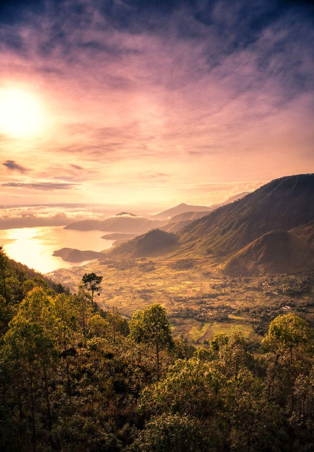 Toba Sunrise by Ahmad Syukaery on 500px The sun rises over Toba lake viewed from Tele observation tower, North Sumatera, Indonesia