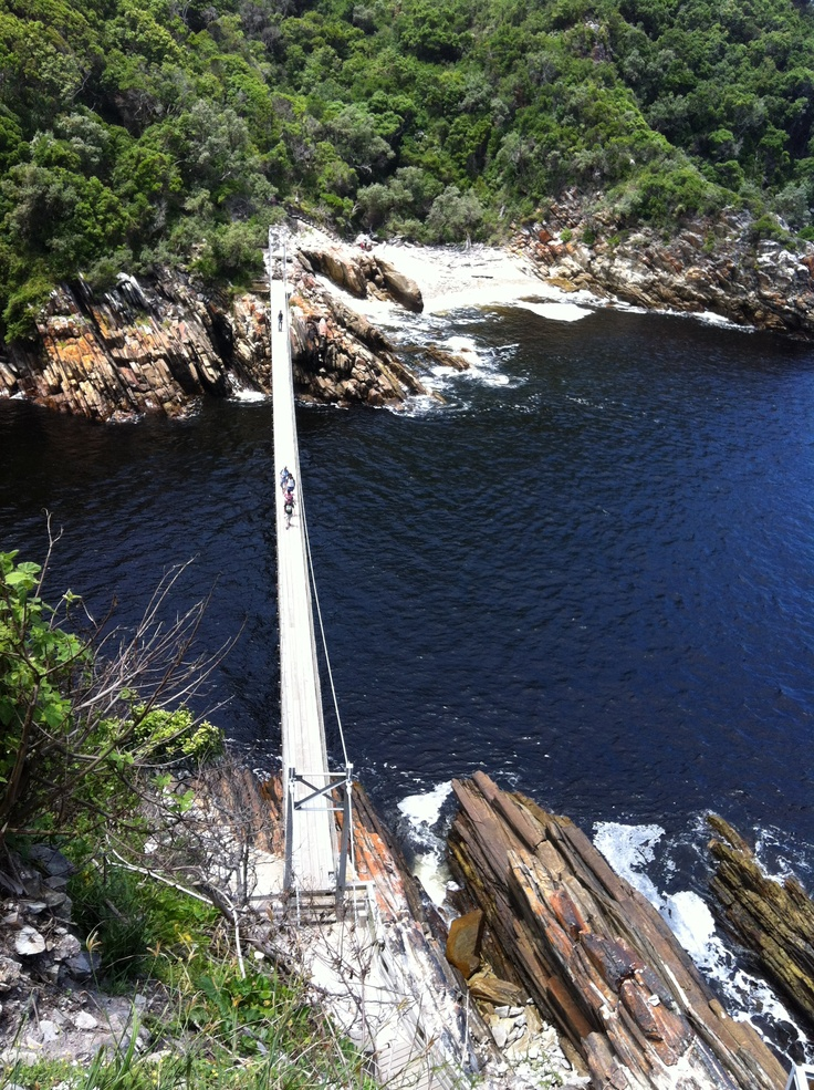 Suspension bridge, Storms River mouth, South Africa