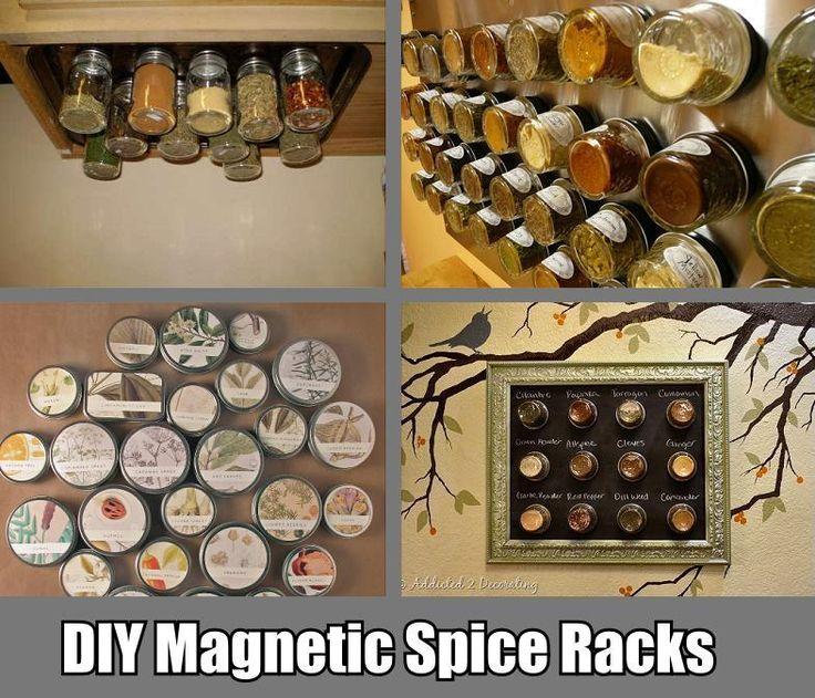 planes de bricolaje estante de especias magnético