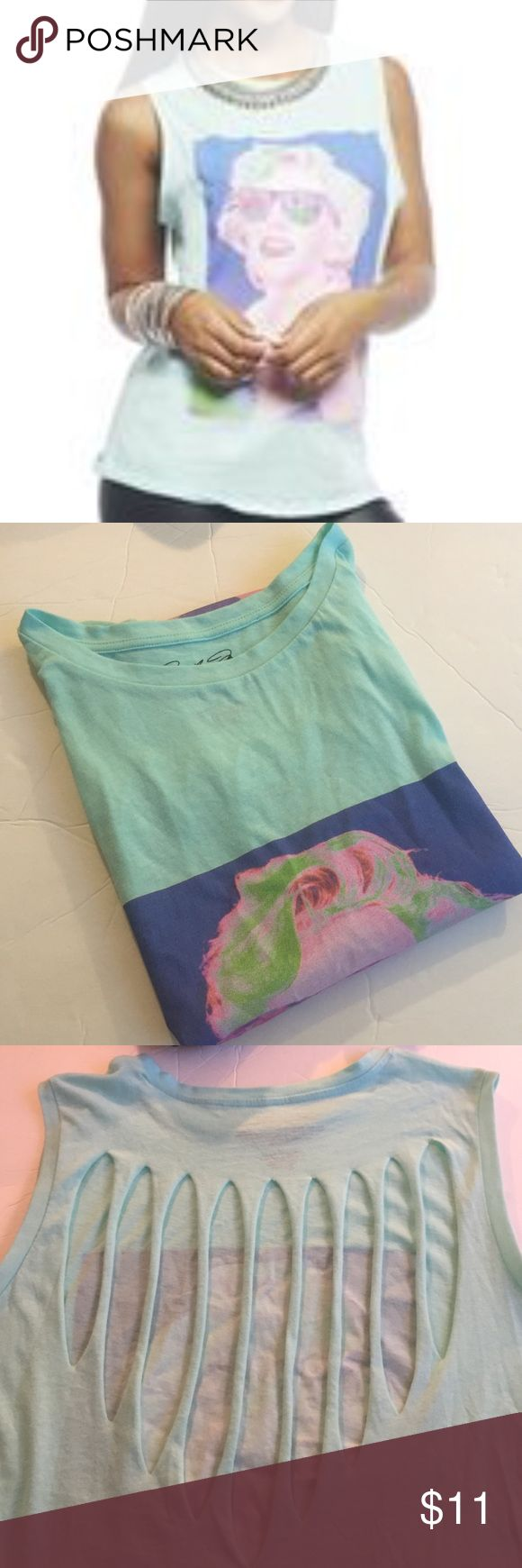 Wet Seal NWT Marilyn Monroe Top Wet Seal Marilyn Monroe Teal/Mint Top. New With Tag. Cute back! No Trades. Tops Muscle Tees