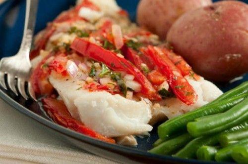 Простые повседневные блюда: запеченная в духовке треска