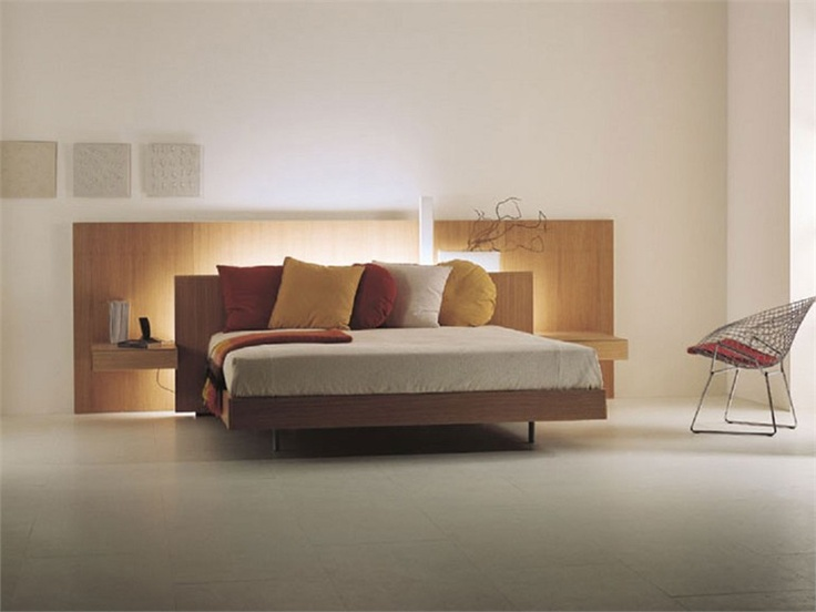 Cama doble LYS 116 Colección Night Concepts by Acerbis International   diseño Marco Acerbis