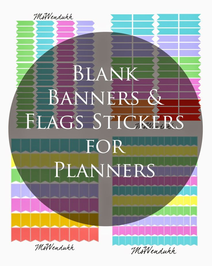 Before I share more of my pre-written stickers, I just wanted to share with everyone all of my blank banners and flags stickers. You can print these out and write down your own events, appointments, activities, etc. There are four different files of blank stickers that include: Arrow Stickers  Planner Flags Stickers (about the same …Continue Reading...