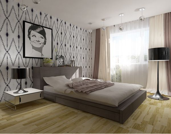 project bedroom headboard wall evg zelenskaya7 Update the bedroom: 3 ideas for creativity with his own hands