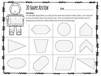 2D Shapes Review in inquiry-based format - use as a review or summative assessment.