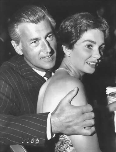 "Stewart Granger and wife Jean Simmons....watch ""Young Elizabeth"" some day.  He was Sir Thomas Seymour."