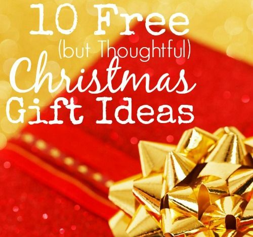 10 Free but Thoughtful Christmas Gift Ideas