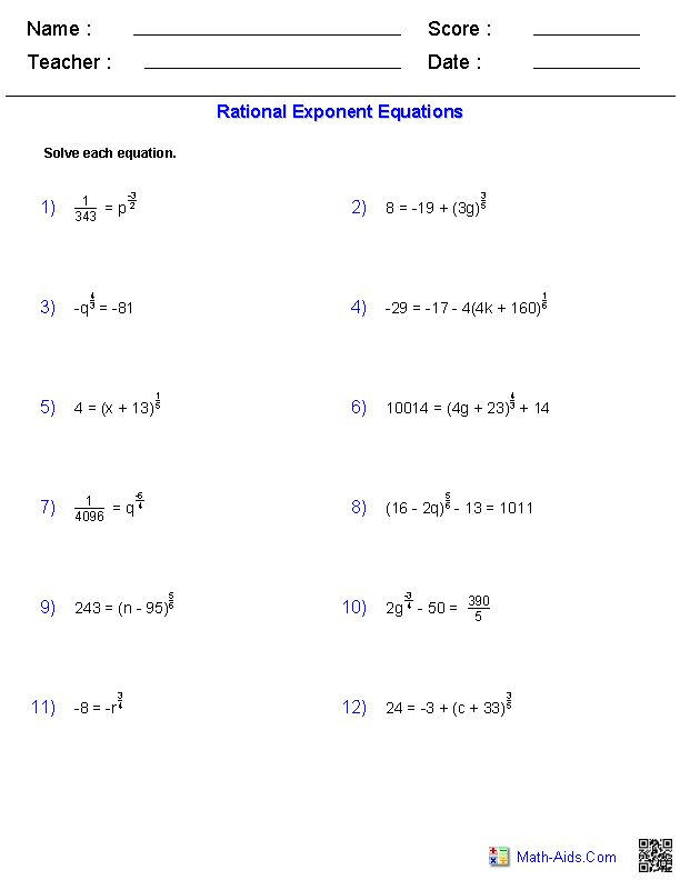 rational exponent equations worksheets math aids com pinterest equation worksheets and. Black Bedroom Furniture Sets. Home Design Ideas