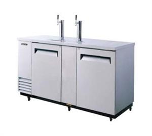 """Beer Dispenser, 69""""L, (2) swing doors, stainless steel countertop & exterior, s/s interior door liner & floor, galvanized steel interior top & inside walls, (3) 1/2 barrel capacity, 3"""" dia. s/s insulated beer columns, door locks, recessed handles, incandescent interior lighting, 1/3 HP, NSF, ETL, cETL, ETL-Sanitation, cUL, ENERGY STAR®, 7.0 amps, 2 Year Parts & Labor Warranty"""