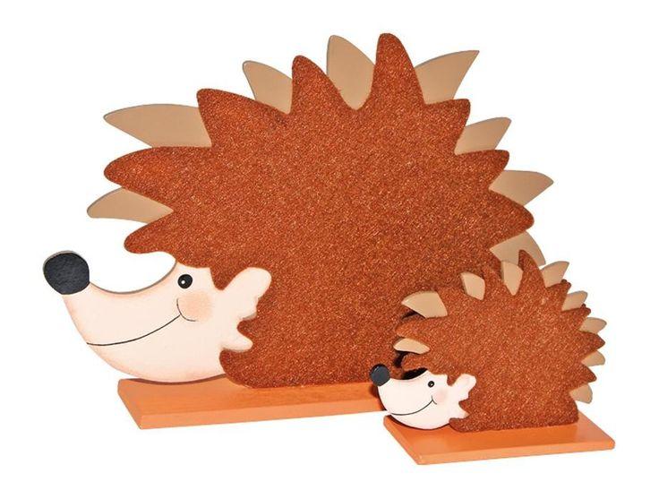Herbstdekoration Igel aus Holz