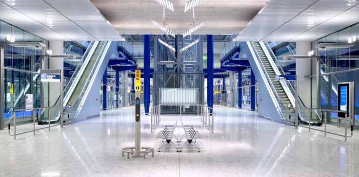 """HOK' design for Heathrow's Terminal 5 Intermodal Station provides """"the best rail to air experience at any airport in the world."""""""
