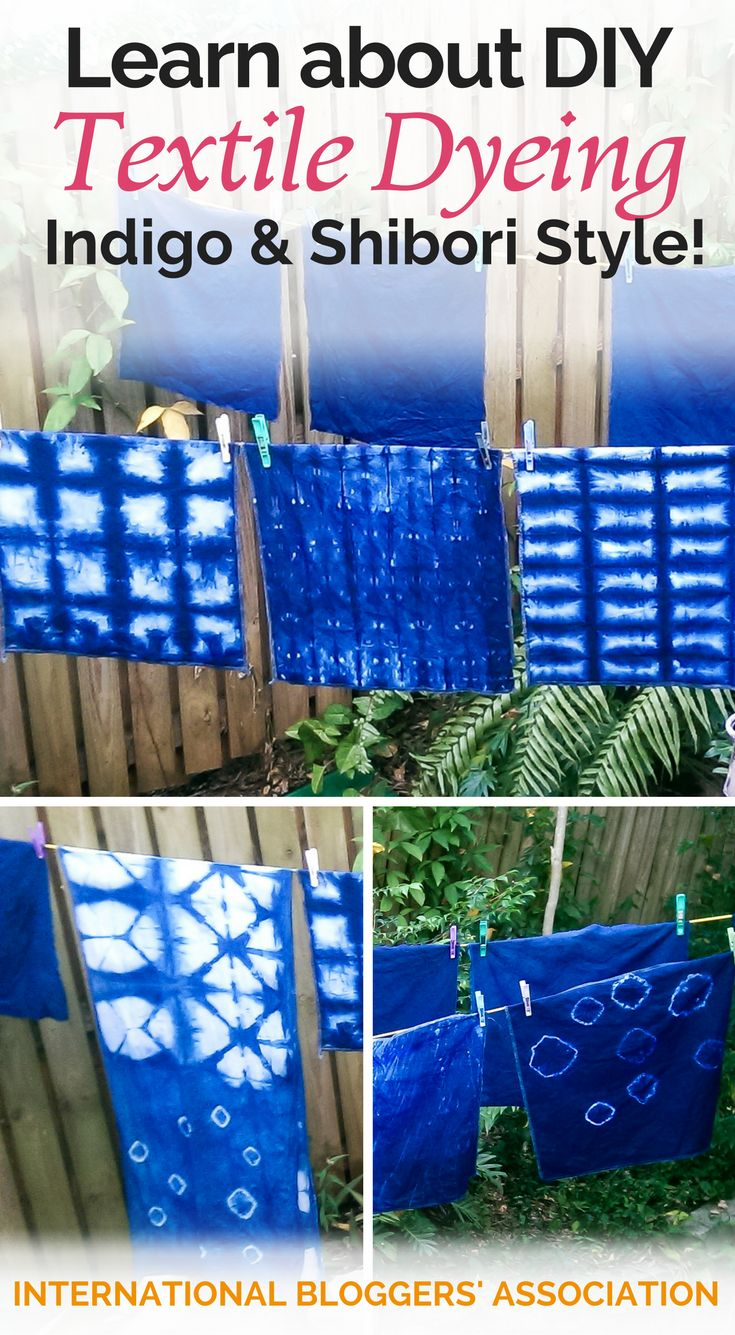 Learn about DIY Textile Dyeing - Indigo & Shibori Style!  It is a beautiful look for natural fabrics like cotton and linen.  http://www.internationalbloggersassociation.com/diy-textile-dyeing/?utm_campaign=coschedule&utm_source=pinterest&utm_medium=International%20Bloggers%27%20Association&utm_content=Learn%20about%20DIY%20Textile%20Dyeing%20-%20Indigo%20and%20Shibori%20Style%21