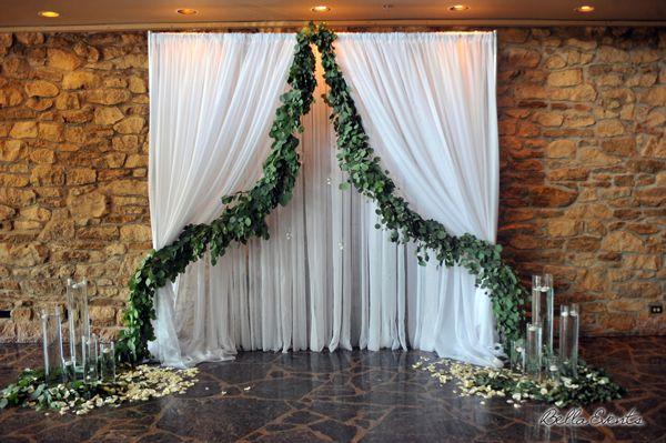 Fabric Wedding Altar