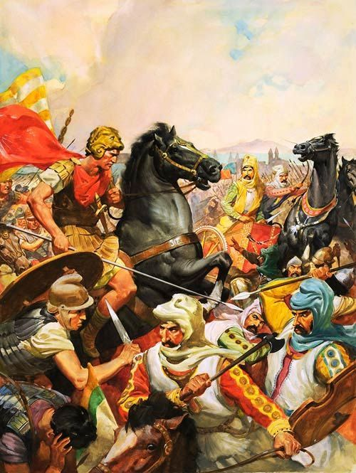 Oct 1, 331 BC. Battle of #Gaugamela . The #Hellenic League under Alexander the Great defeats Darius III, ending the #persian #Empire . #Greece