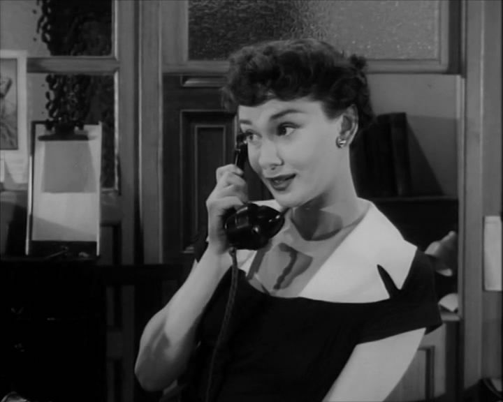 Audrey Hepburn as a Hotel Receptionis in One Wild Oat 1951. It was one of her first few movies.jpg (JPEG Image, 720 × 576 pixels)