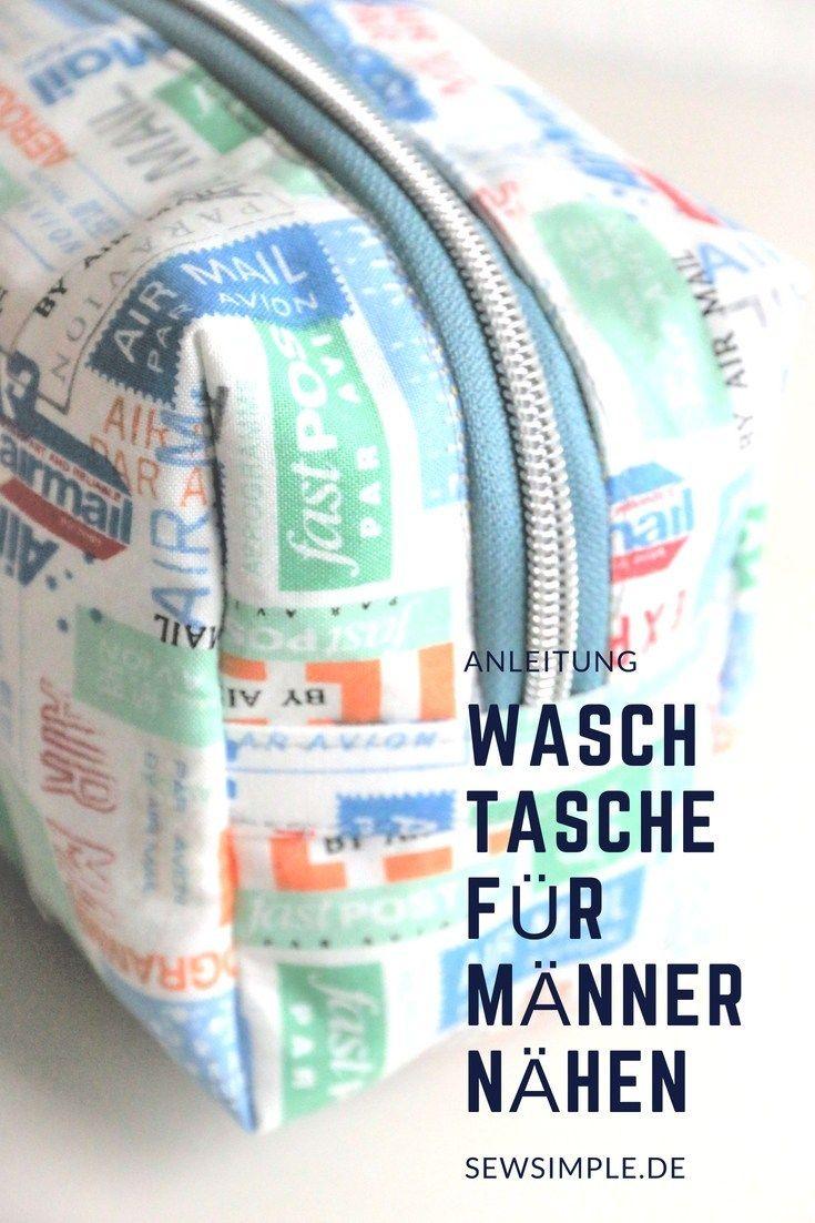 Waschtasche für Männer nähen: So wird's gemacht!