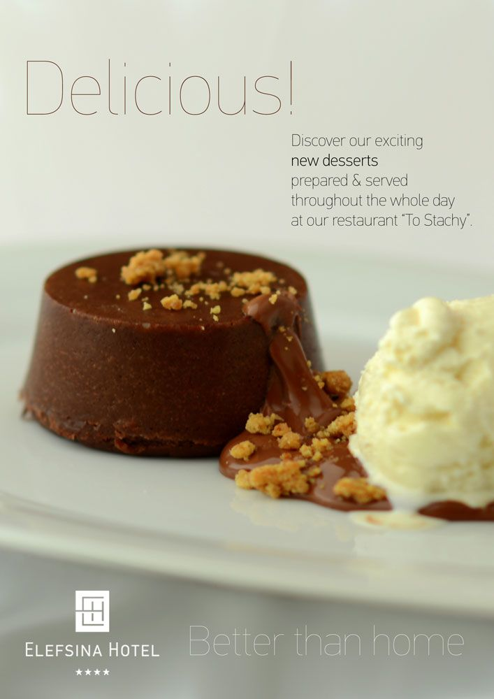 Chocolate Moelleux with Vanilla Ice Cream Dark chocolate 65% on praline and hazelnut crumble