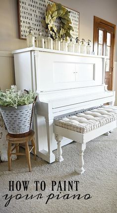 liz marie blog We Painted Our Piano – How To Paint Your Piano http://www.lizmarieblog.com/2016/07/we-painted-our-piano/ via bHome https://bhome.us