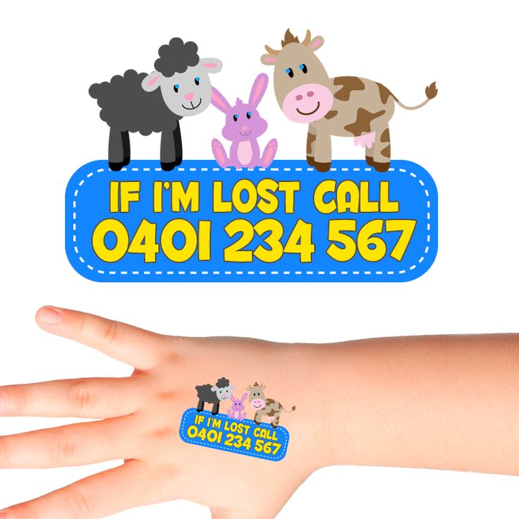 Farm Animals Personalised Safety Tattoos #520 (32 pack)