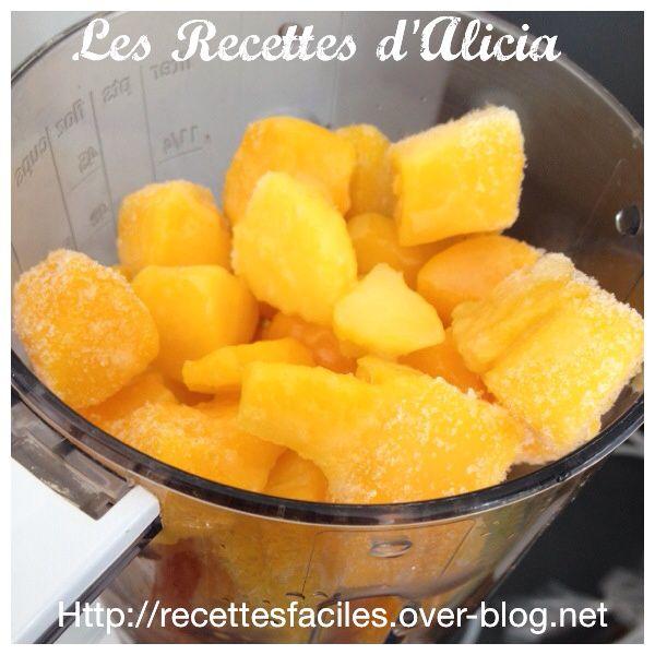 Sorbet mangue sans sorbetière