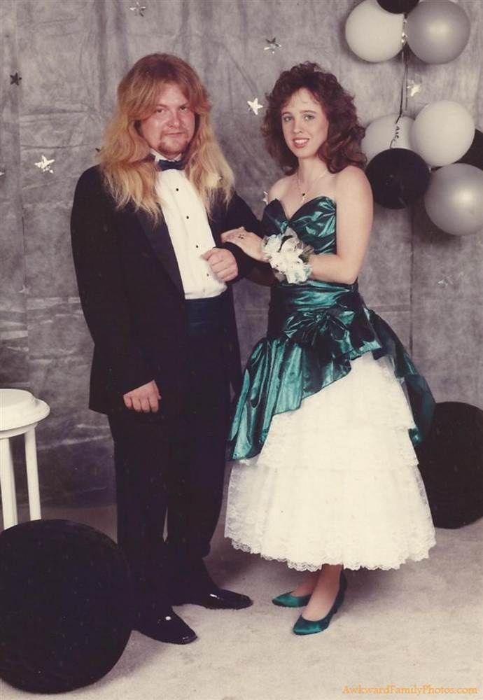 Awkward prom -  The roadie for Whitesnake back in '87....