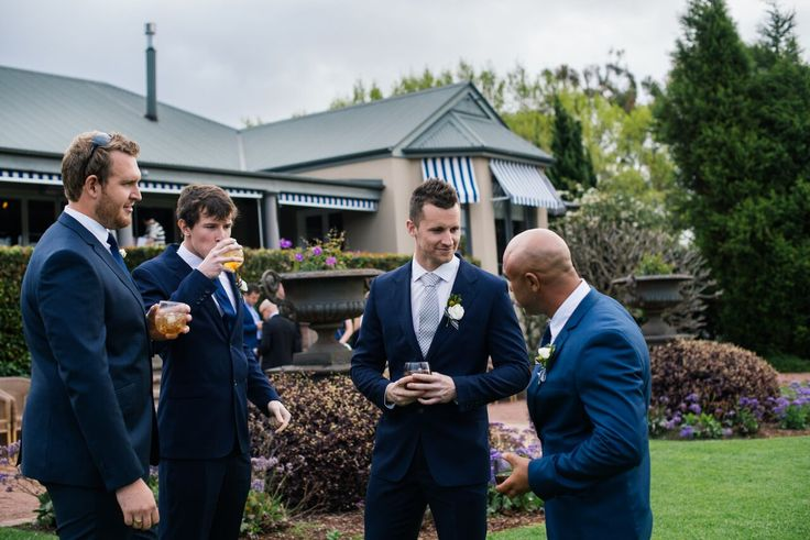 Groom and his navy men #style #bellsgroom #classic