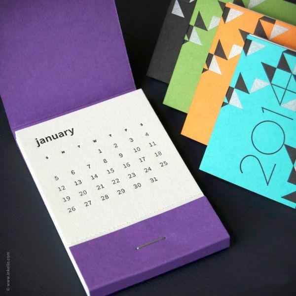 """1. Calendario """"Caja de fósforos"""" por Inkello."""