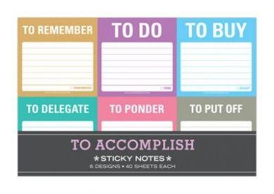 Knock Knock to Accomplish Sticky Note Packet (Sticky Note Packet)