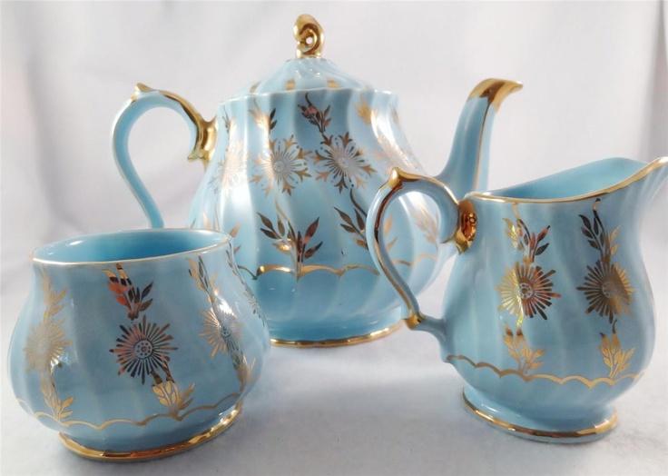 17 Best Images About Sadler Tea Sets On Pinterest Auction Blue Gold And Sugar Bowls