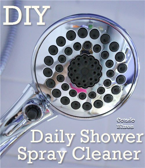 Diy daily shower cleanser: three parts water, one part vinegar in a spray bottle (can add a splosh of shampoo too)