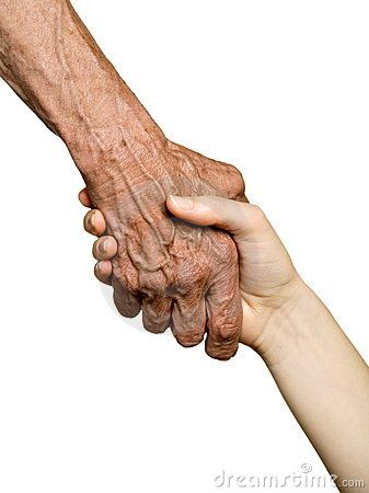 Old and young hand ... pass it on