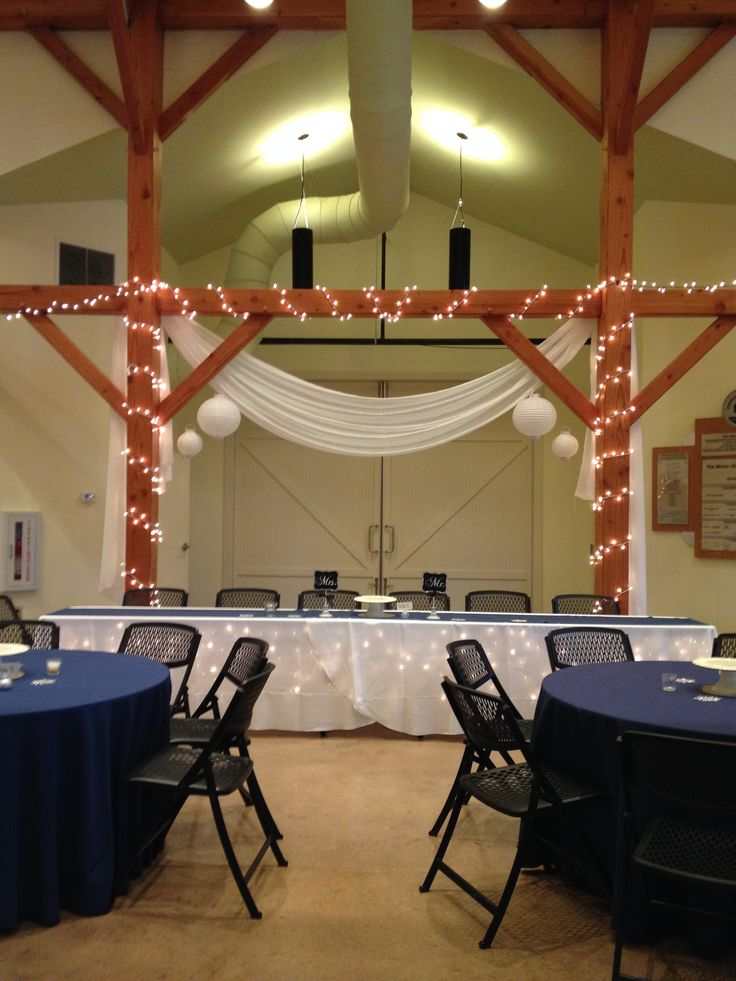 barn wedding venues twin cities%0A Beautifully decorated head table at the Amelita Mirolo Barn  www amelitamirolobarn com