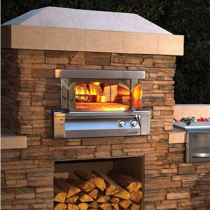 Alfresco 30-Inch Built-In Natural Gas Outdoor Pizza Oven - AXE-PZA-BI-NG : BBQ Guys