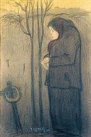 Mujer rezando by Isidro Nonell y Monturiol