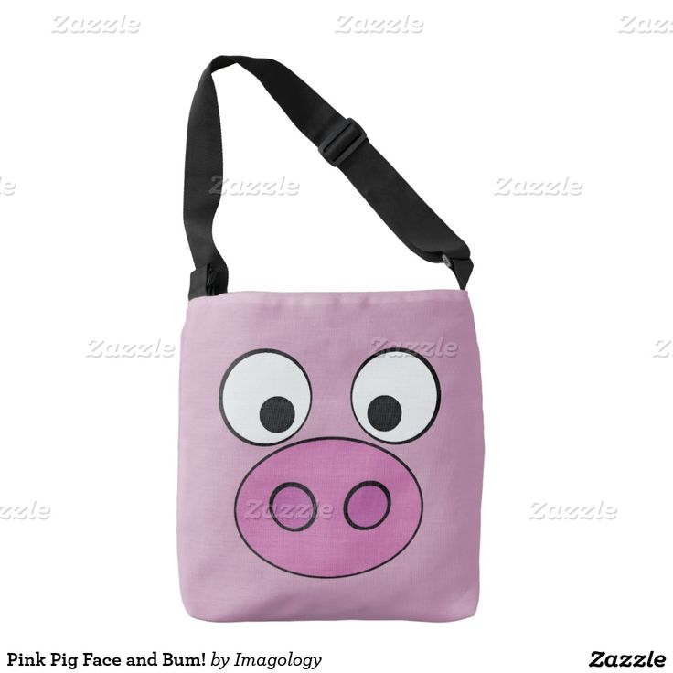 Pink Pig Face and Bum! Tote Bag
