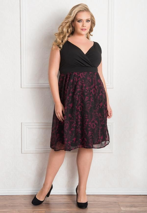 The perfect mix of modern and vintage our Adelle Dress is a classic plus size cocktail dress that you'll love wearing season after season. Great option for the hourglass, rectangle or triangle shapes.