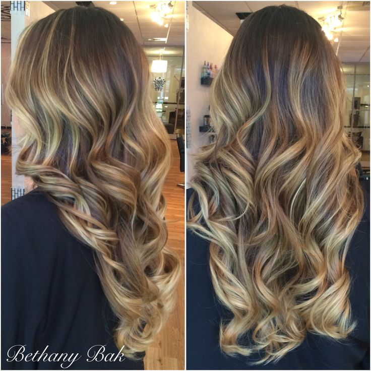 15 best images about ombr styles balayage on pinterest for Balayage braun blond