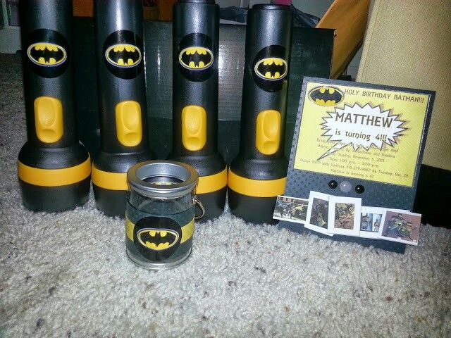 Batman Wedding Gift: Batman Birthday Party Favors