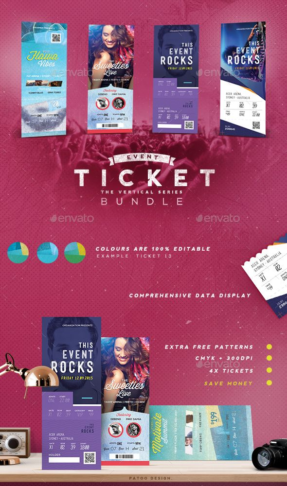 Best 48 Awesome graphic templates ideas on Pinterest Advertising - free event ticket template download