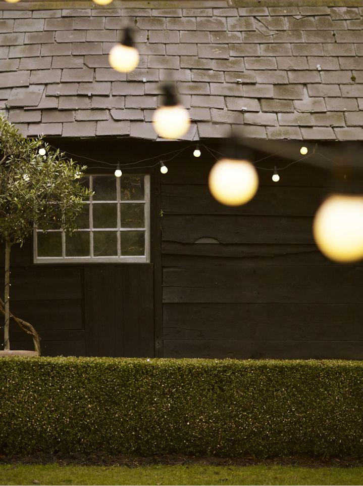 White Festoon Lights: Gardenista