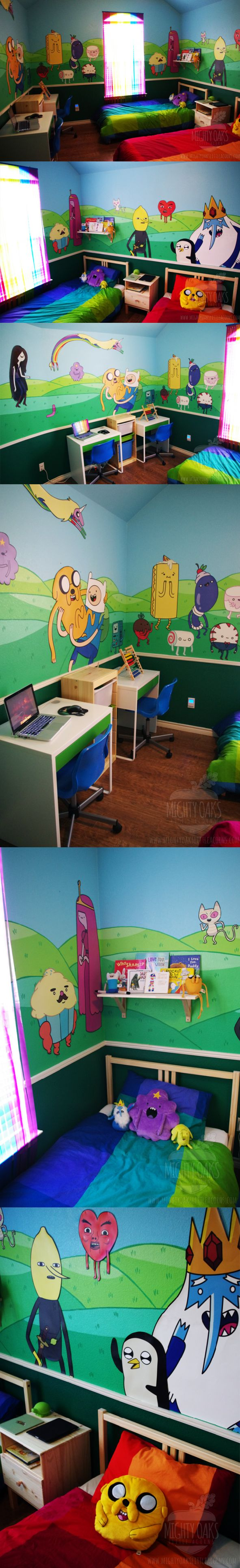 What time is it? Adventure time!!!!! Yay!!!!!!!!!This  is literally so cool and I want to paint my walls like that someday!!!!!!