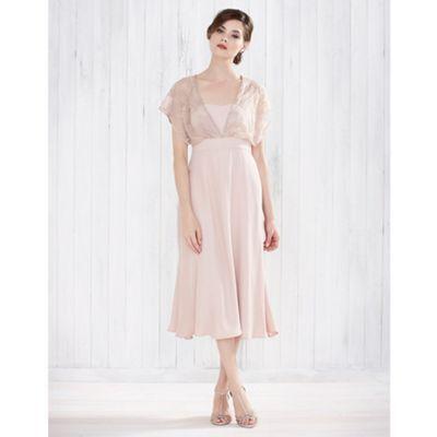 Monsoon Pink Summer drop shoulder dress- | Debenhams