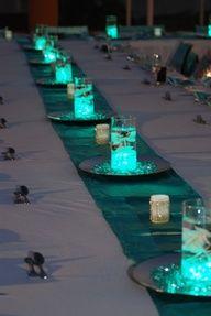 Déco de table turquoise et facile