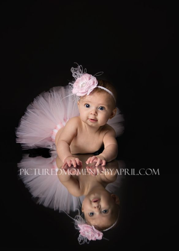 4 month baby picture in tutu  clarksville, tn baby photographer, pictured moments by april