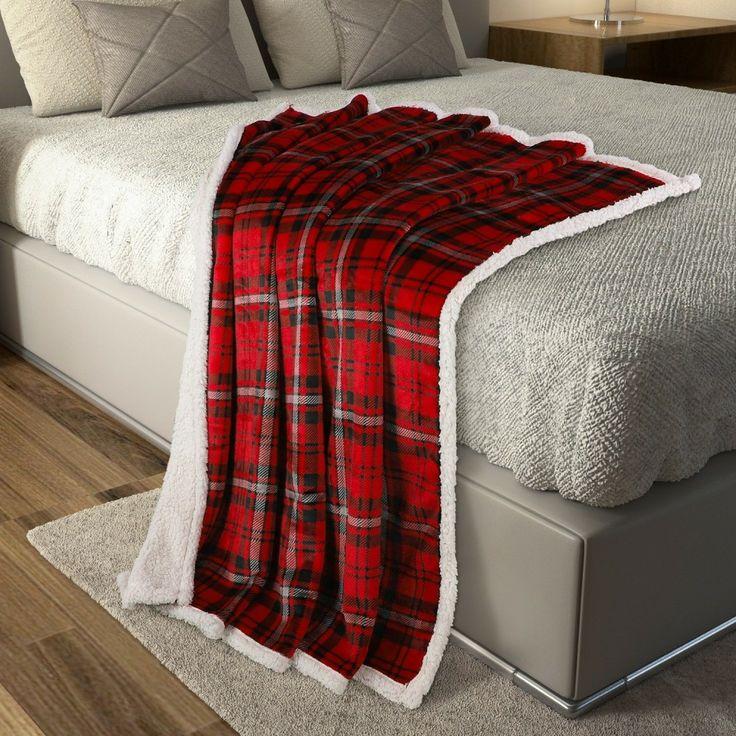 بطانية كنب مخمل وفرو أبريال Blanket Throw Blanket Bed