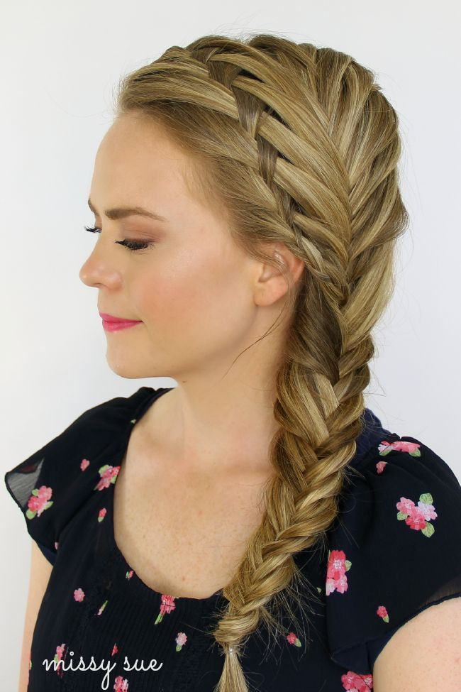 I wish I could fishtail my own hair :(    Waterfall and Fishtail French Braids #beauty #hair #braid