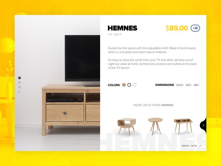 Product Detail Page for IKEA by Ekrem Ates