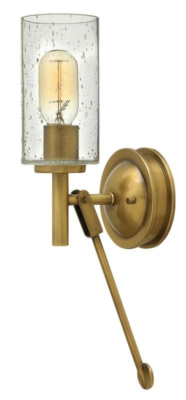Hinkley Lighting 3380 1 Light Wall Sconce From The Collier Collection Heritage Brass Indoor