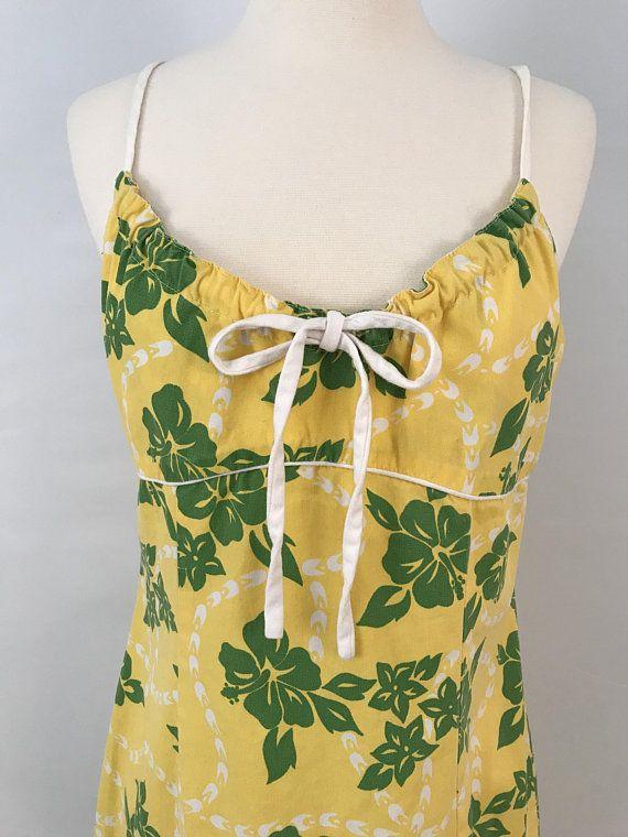 90s Hawaiian Print Mini Dress Printed Mini Dress Mini Dress Hawaiian Print