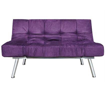 The College Cozy Sofa Mini Futon Purple Dorm Furniture Items Seating Cheap Futons